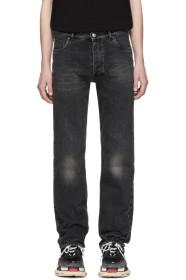 발렌시아가 Balenciaga Black Destroyed Hem 5 Jeans