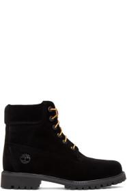 Black Timberland Edition Velvet Boots