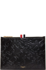 Thom Browne 톰 브라운 Black Large Embossed Toy Icon Coin Pouch