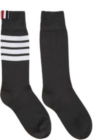 Thom Browne 톰 브라운 Grey Lightweight Cotton Mid-Calf Socks