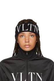 Black 발렌티노 Valentino Garavani VLTN Headband