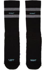 오프화이트 Off-White Black & Blue Reversed Sport Socks