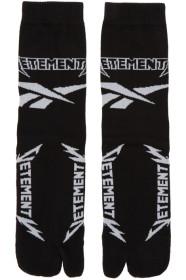 베트멍 Vetements Black & White 리복 Reebok Edition Metal Split Toe Socks