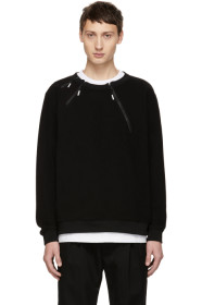 Black 3 Zip Sweatshirt
