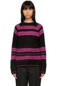 Black & Pink Stripe Pullover