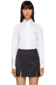 White Deep Cuff Poplin Shirt