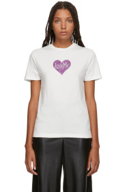 Ivory Love Me Glitter T-Shirt