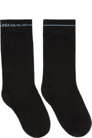 프라다 Prada Black Line Band Short Socks
