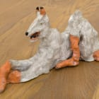 Chelsey Pettyjohn, Flesh Dog, 2016, ceramic, 9 1/2 x 3 x 4 in.