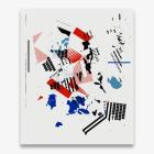 Michael Bell-Smith,  Scrapped, 2017, machine cut vinyl on Dibond, 54 x 45 in. (137.16 x 114.3 cm.)