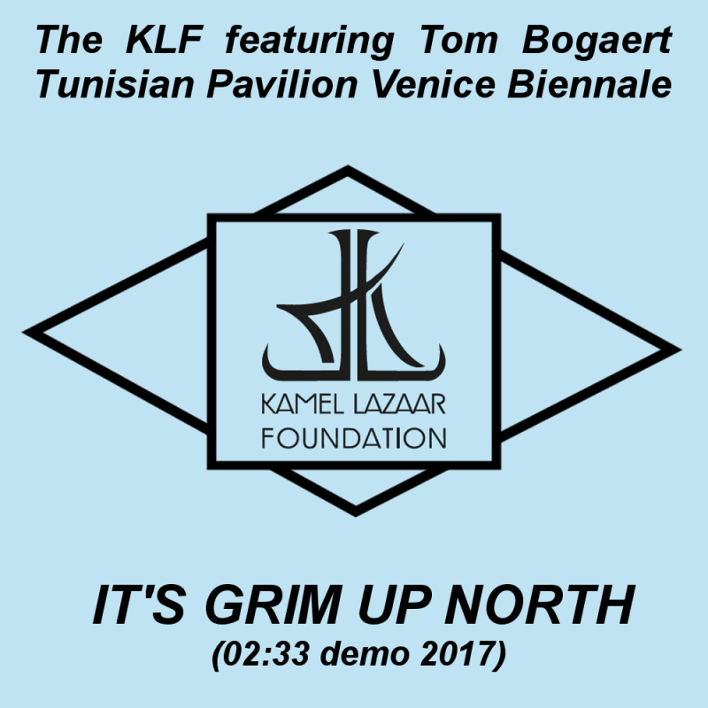 """Demo available for a limited time only and exclusively on the """"Venice Biennale Tunisia Pavilion online platform"""":http://www.theabsenceofpaths.com/commission/its-grim-up-north-the-klf-featuring-tom-bogaert"""