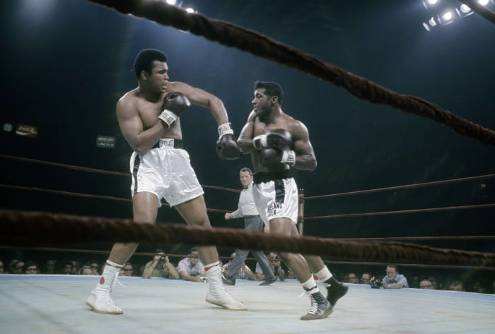 Ali rebounds, wins second fight with Frazier
