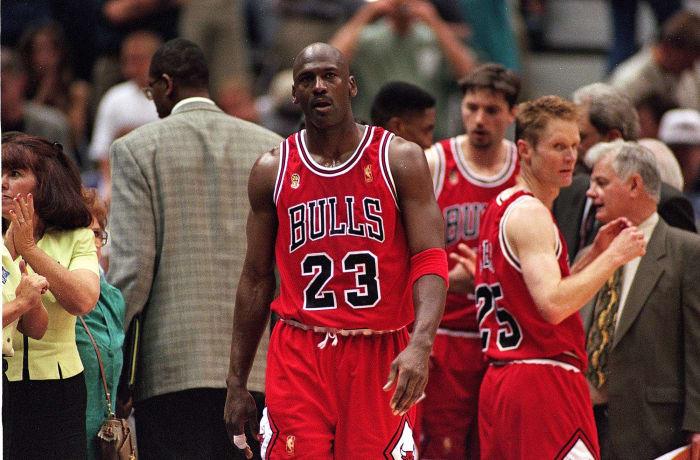 Jordan and the Bulls win it all