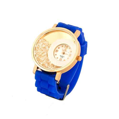 Blue & Gold Bead Dial Watch