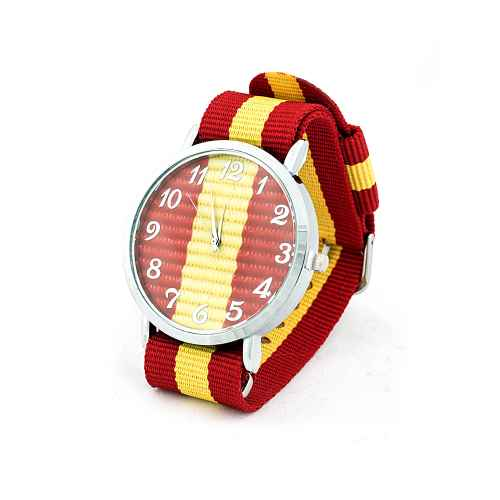 Spanish Yellow and Red Strap Watch