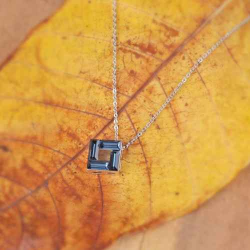 Blue Brick Pendant made with Elements from Swarovski