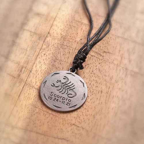 Zodiac Sign 'Scorpio' Pendant for Men
