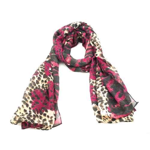 Pink Cheetah Scarf