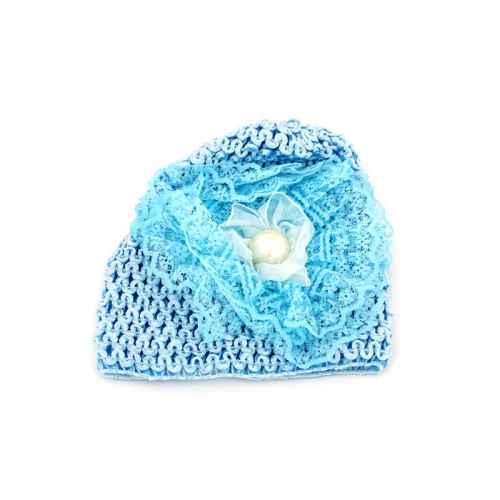 Blue pearl knit Cap