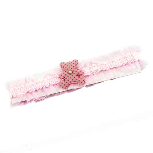 Pink Teddy hair band for Kids