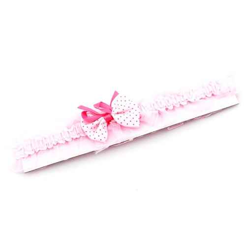 Pink polka dot Bow Hair band for Kids
