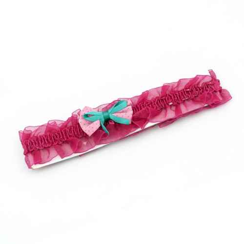Dark Pink polka dot Bow Hair band for Kids