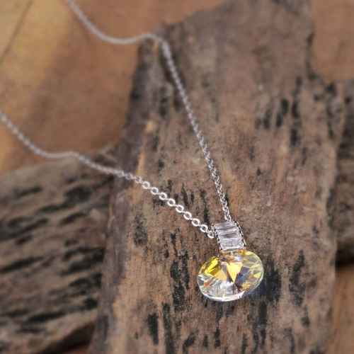 Clear Flashlight Pendant Made with Elements from Swarovski