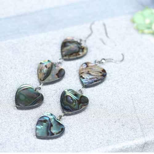 Heart Shaped Beach Shell Earrings