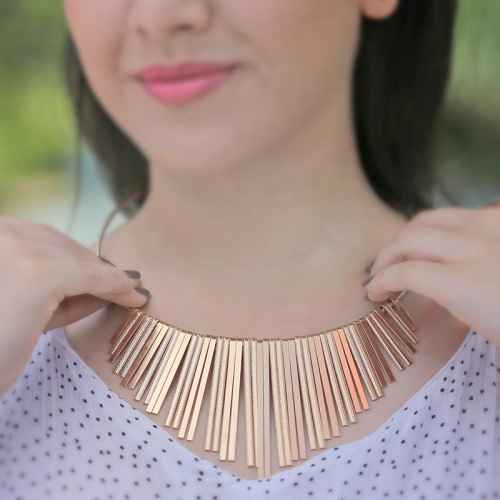 Gold Strip Choker Necklace