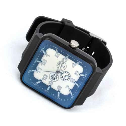 Stylish Dark Blue & White Time Watch