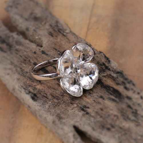 Crystal Petal Ring