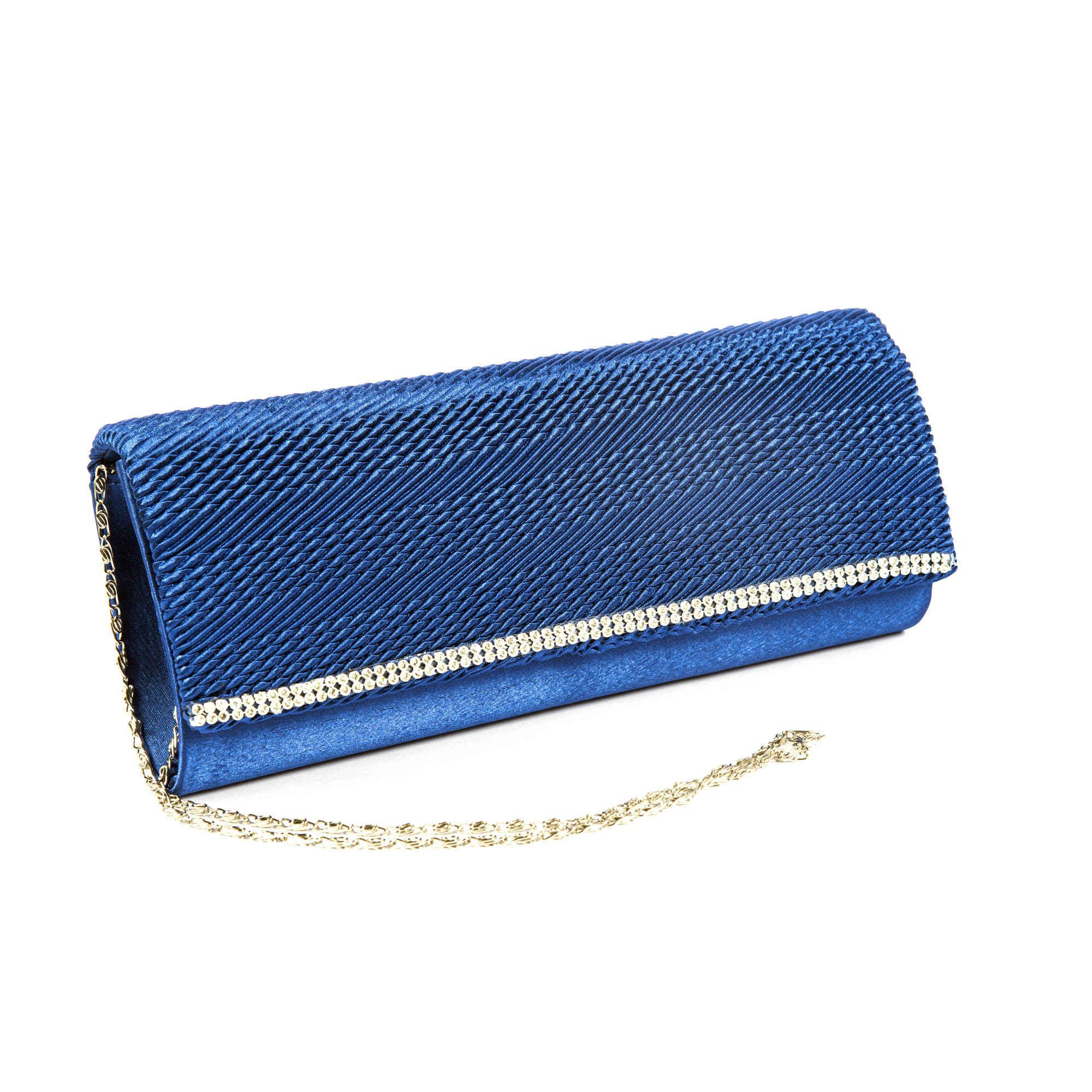 Blue Velvet Clutch