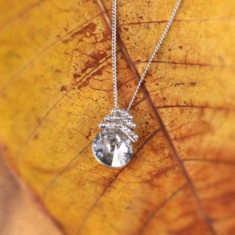 Grey Mystique Pendant made with Elements from Swarovski