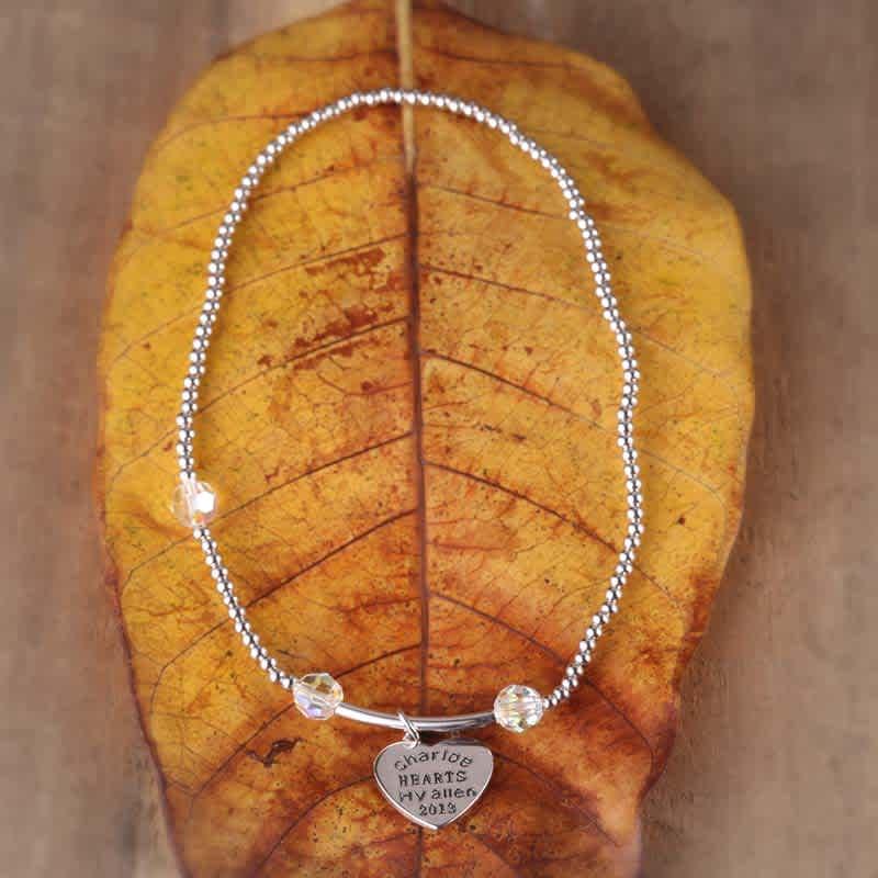 Heart on your sleeve Swarovski crystal Bracelet