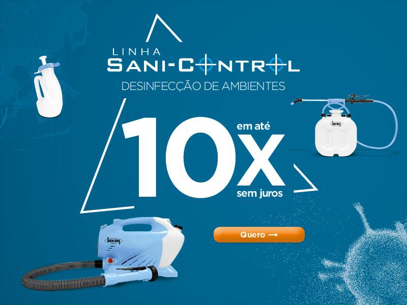 Linha Sani-Control Desinfecção de Ambientes em até 10x sem juros