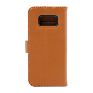 For Samsung S8 Genuine leather Brown