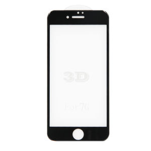 For iPhone 7 3D Full Cover Tempered Glass Screen Protector Black