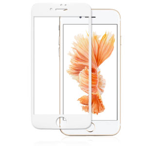 For iPhone 7 3D Full Cover Tempered Glass Screen Protector White
