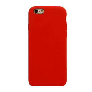 For iPhone 6 / 6S Silicone Plain Matte Case Red