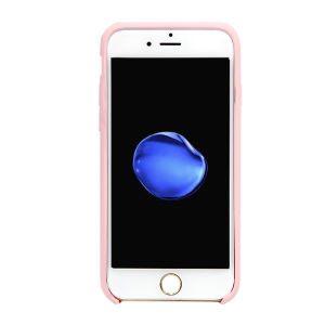 For iPhone 6/6S Silicone Plain Matte Case Pink