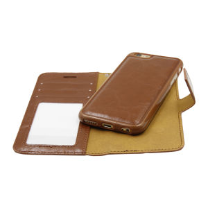 For iPhone 6 PU Leather Magnetic detachable Case Brown