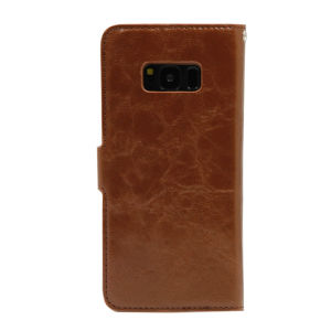 For Samsung Galaxy SM-G950F S8 PU Leather Magnetic detachable Case Brown