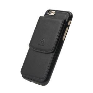 For iPhone 6/6S PU Leather Magnetic detachable Card Pocket Case Black