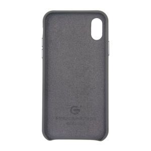 For iPhone X Genuine Leather Case Grey