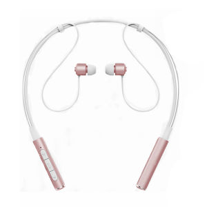 Z6000 Sweatproof Neckband Bluetooth Headset Sport Earphone HIFI Stereo Calls Remind Headphone Pink