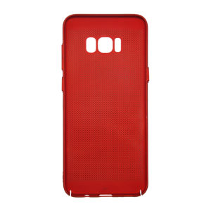 For Samsung S8 Plus Breathable Net Cover Red