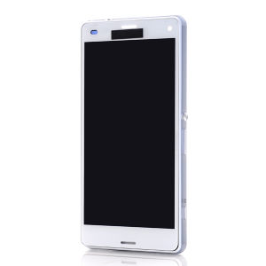 For Sony Xperia Z3 Compact LCD Complete With Frame White
