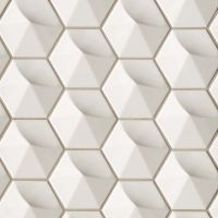 "Hedron 5"" x 4"" Wall Tile in Fog"