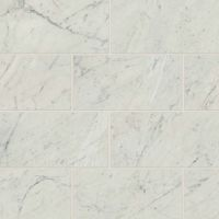 "Classic 2.0 12"" x 24"" x 3/8"" Floor and Wall Tile in Bianco Carrara"