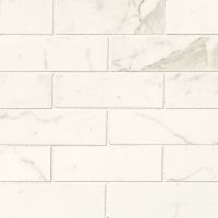 "Classic 2"" x 6"" Floor and Wall Mosaic in Statuarietto"